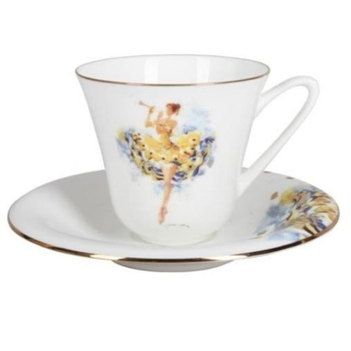 "A cup with saucer  ""Fairy of carelessness"" shape Garden"