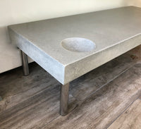 Poured Concrete Table - Natural Grey