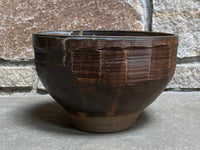 "Large Faceted Ö Bowl, 8.5""w x 5.5""h"
