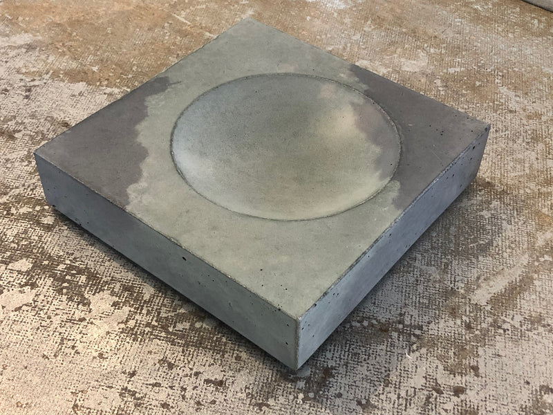 Dual Tone Grey Concrete Bowl