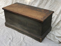 Grey/Blue Wood Chest