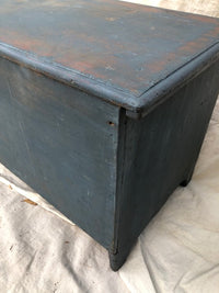 Blue Wood Chest