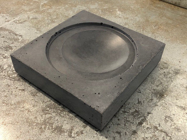 Stormy Grey Concrete Bowl