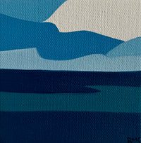 "Sea Of Blue, 4""h x 4""w"