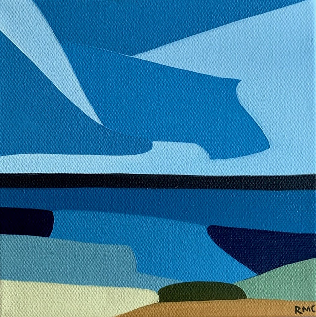 "Beneath Blues, 6""h x 6""w"
