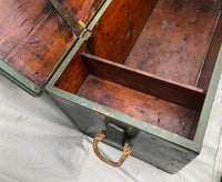 Grey/Green Wood Chest