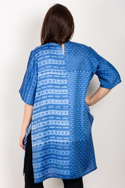 Blue Shibori Top