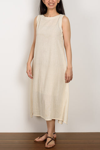 Creme Sleeveless Dress