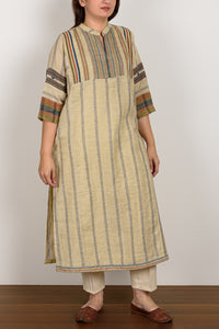 Striped Olive Kurta