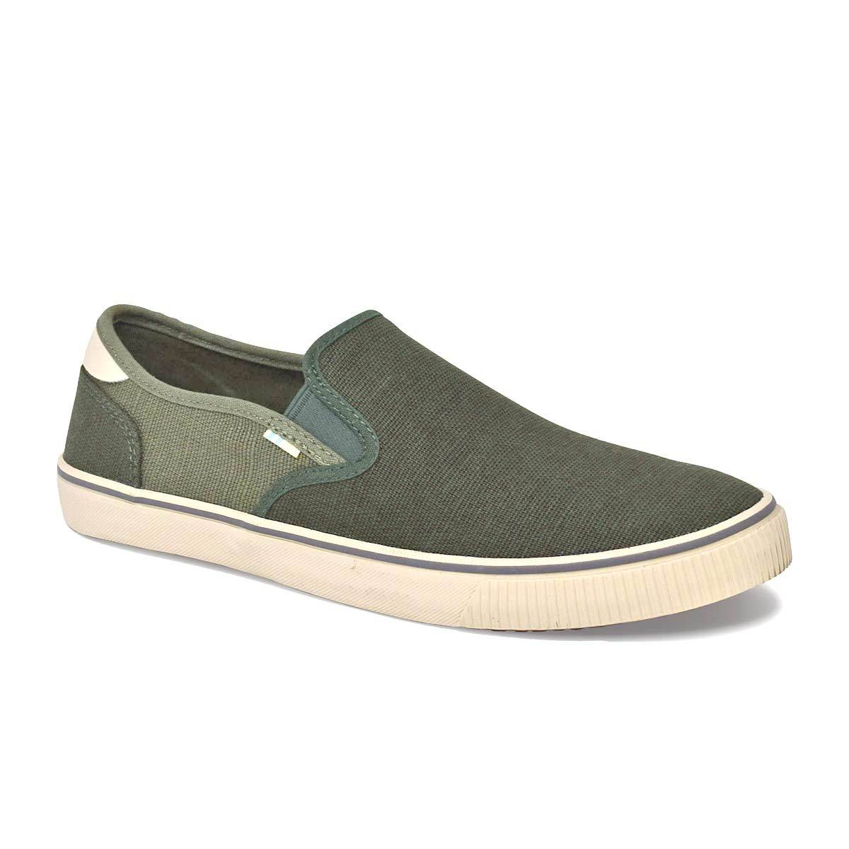 White Canvas Men's Baja Slip-Ons Topanga Collection