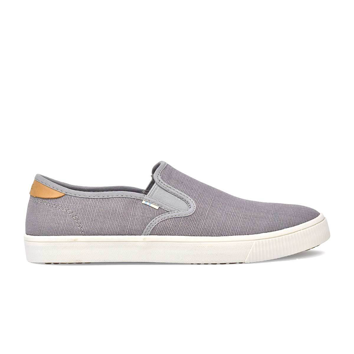 Drizzle Grey Heritage Canvas Men's Baja Slip-Ons Topanga Collection