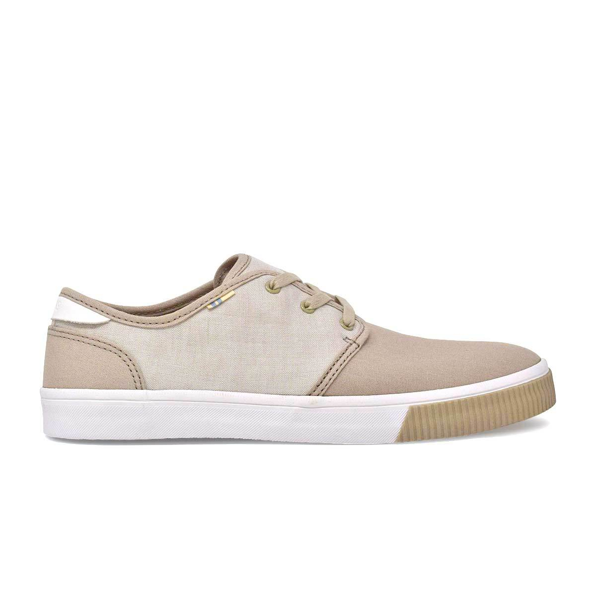 Two Tone Natural Canvas Men's Carlo Sneakers Topanga Collection