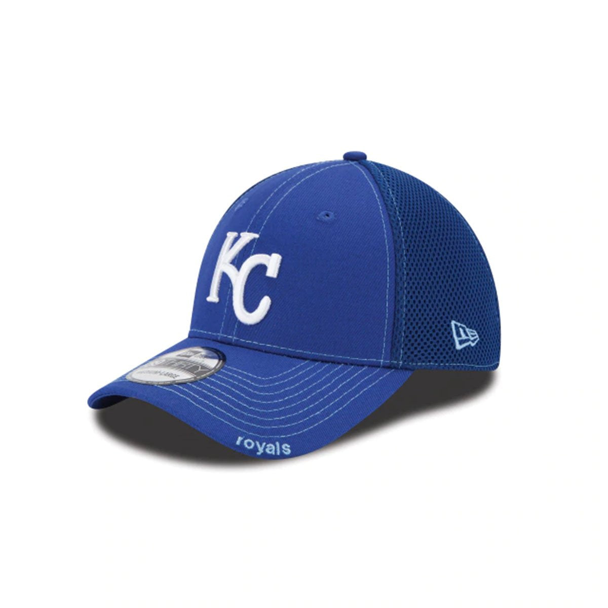 KANSAS CITY ROYALS 39THIRTY STRETCH FIT BLUE/WHITE