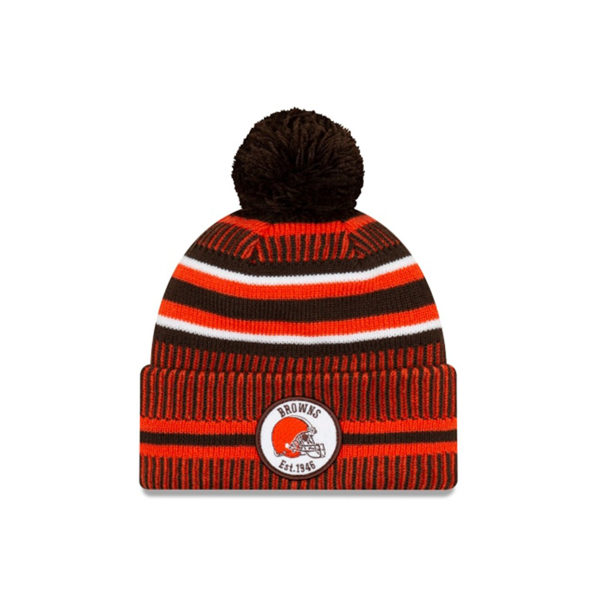 CLEVELAND BROWNS OFFICIAL NFL SIDELINE HOME COLD WEATHER SPORT KNIT ORANGE/BROWN
