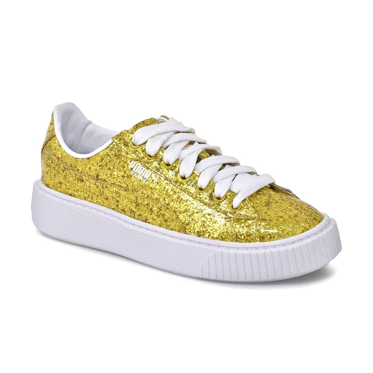 Basket Plarform Glitter Gold