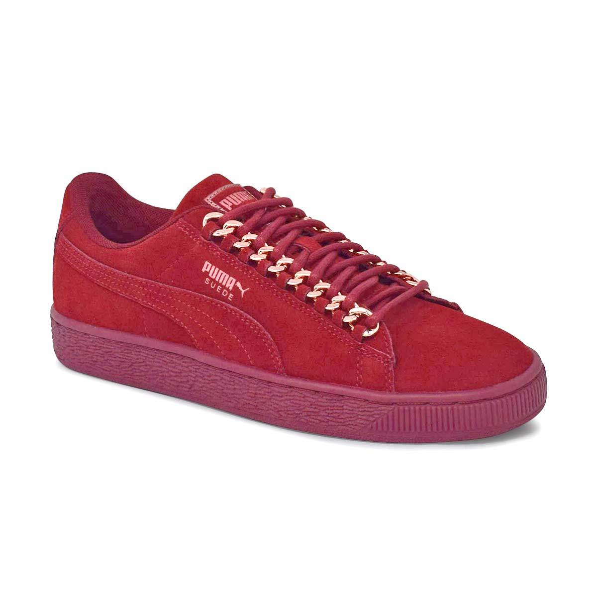 Women's Suede Classic Chain Red