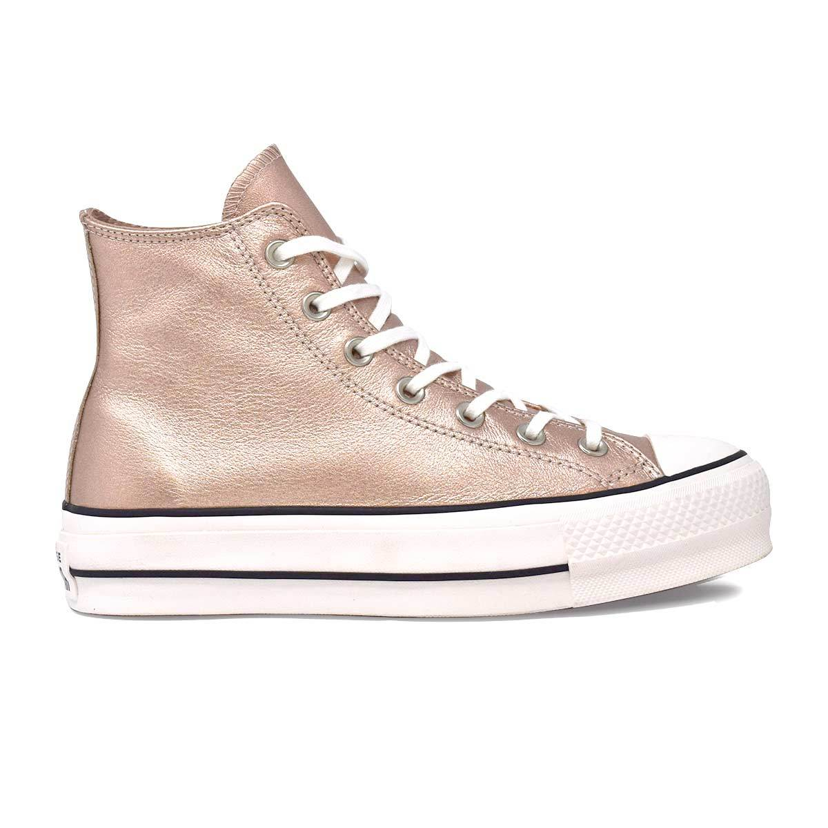 Chuck Taylor All Star Lift Metallic Leather High Top