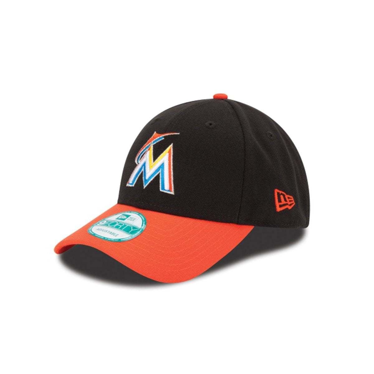 MIAMI MARLINS 9FORTY ADJUSTABLE BLACK/ORANGE