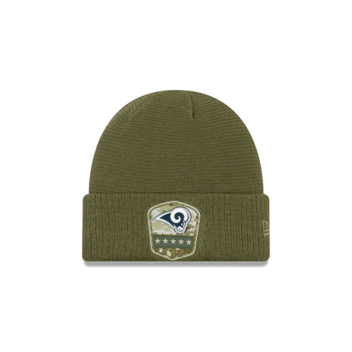 LOS ANGELES RAMS SALUTE TO SERVICE CUFF KNIT GREEN/BLUE