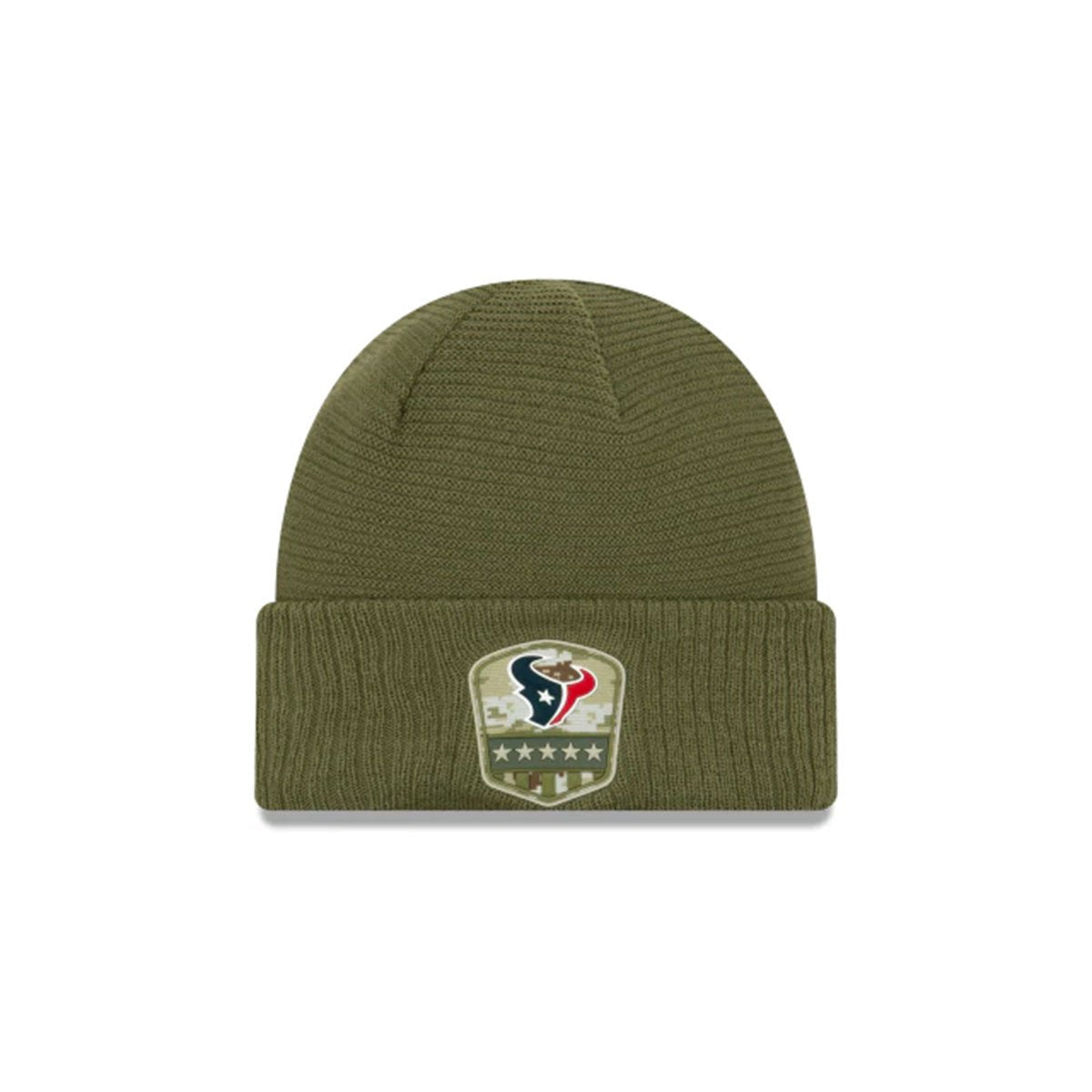 HOUSTON TEXANS SALUTE TO SERVICE CUFF KNIT GREEN/BLUE