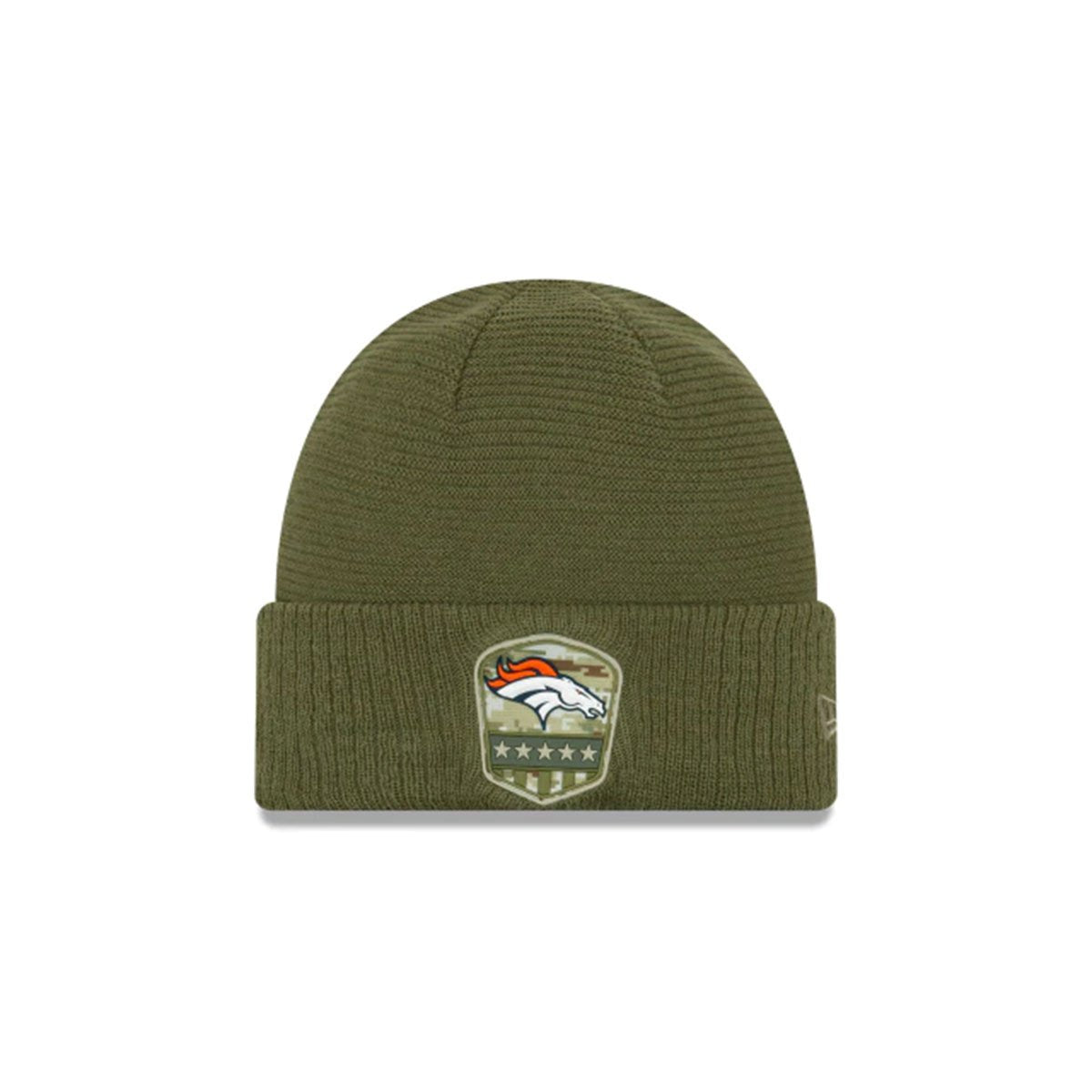 DENVER BRONCOS SALUTE TO SERVICE CUFF KNIT GREEN/WHITE