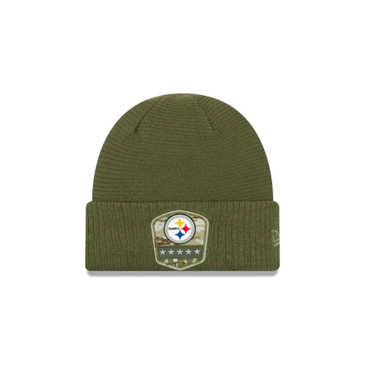 PITTSBURGH STEELERS SALUTE TO SERVICE CUFF KNIT GREEN/WHITE