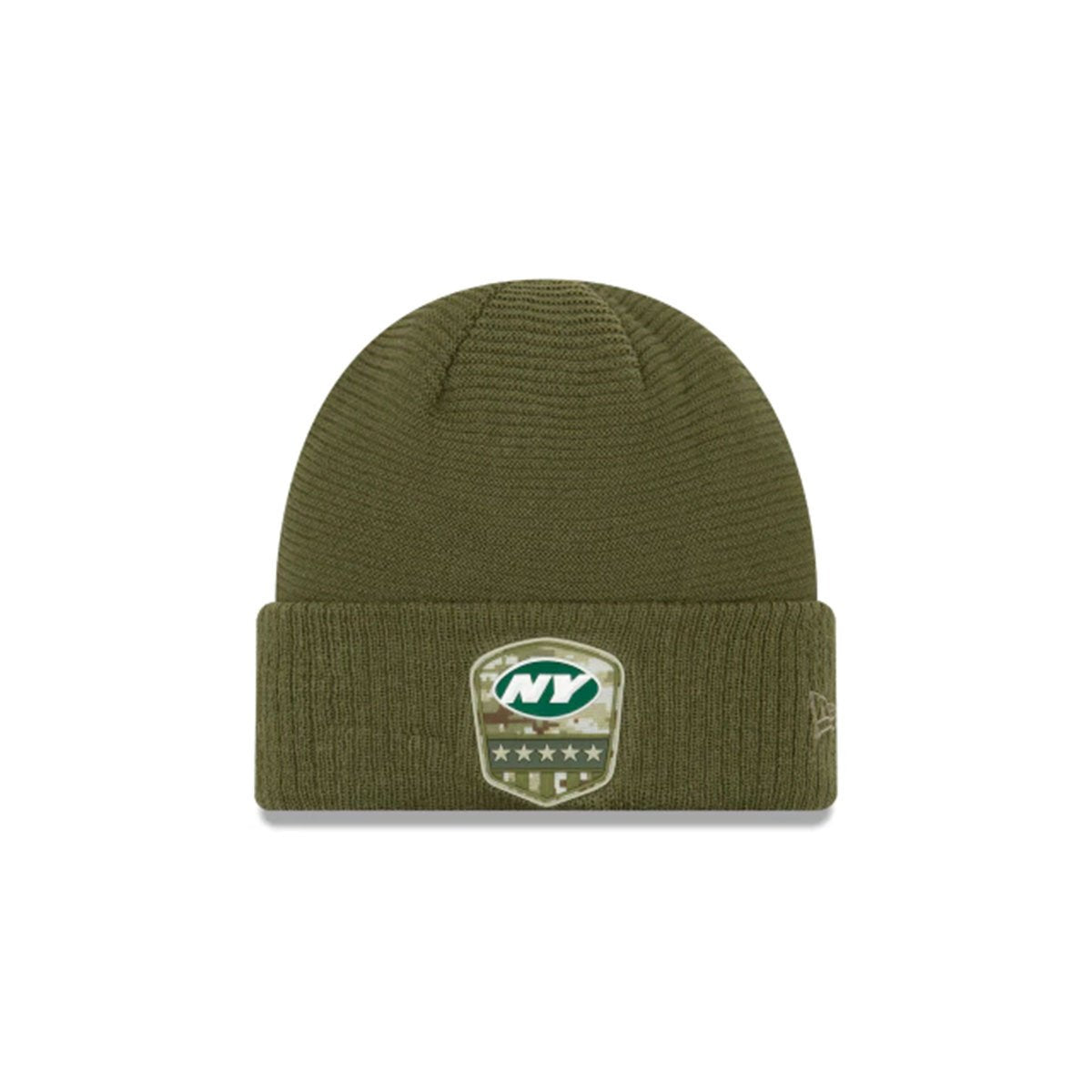 NEW YORK JETS SALUTE TO SERVICE CUFF KNIT GREEN/GREEN