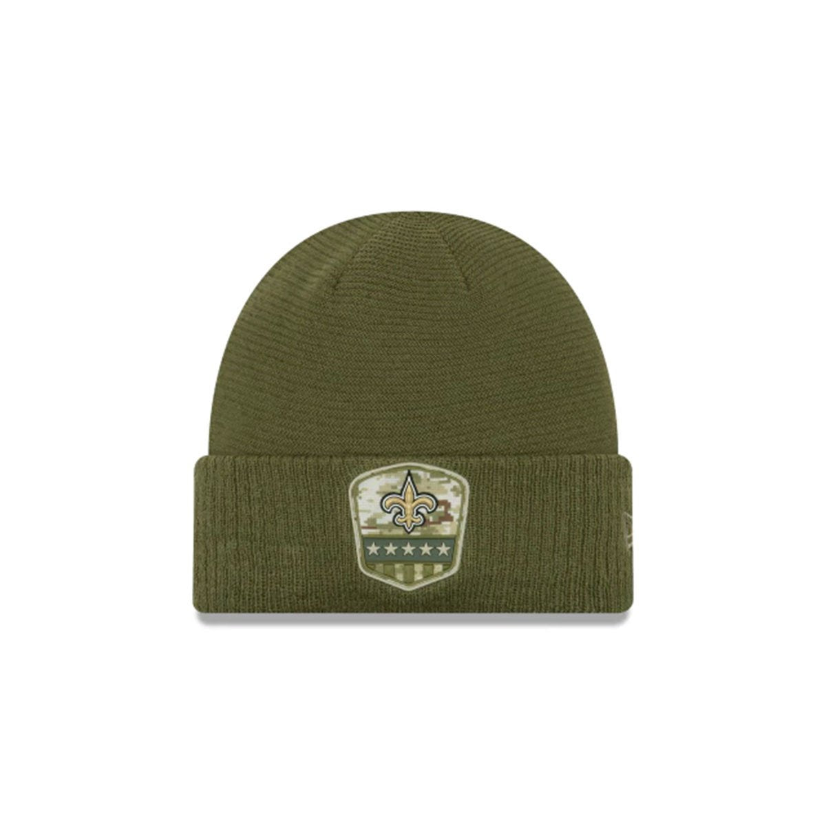 NEW ORLEANS SAINTS SALUTE TO SERVICE CUFF KNIT GREEN/GOLD