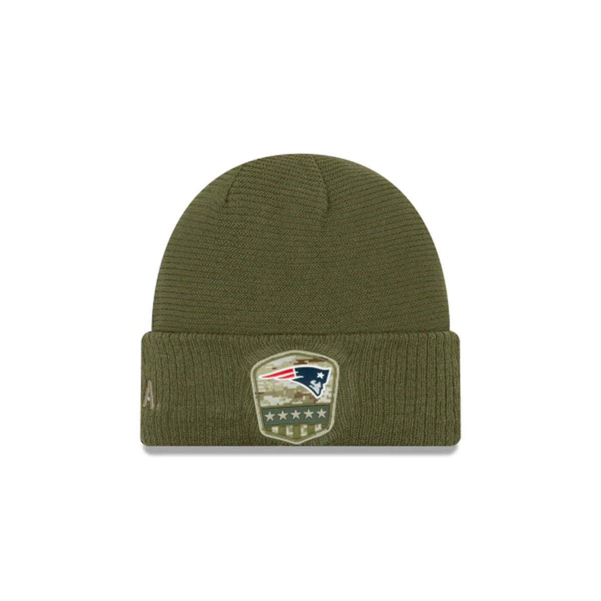 NEW ENGLAND PATRIOTS SALUTE TO SERVICE CUFF KNIT GREEN/BLUE