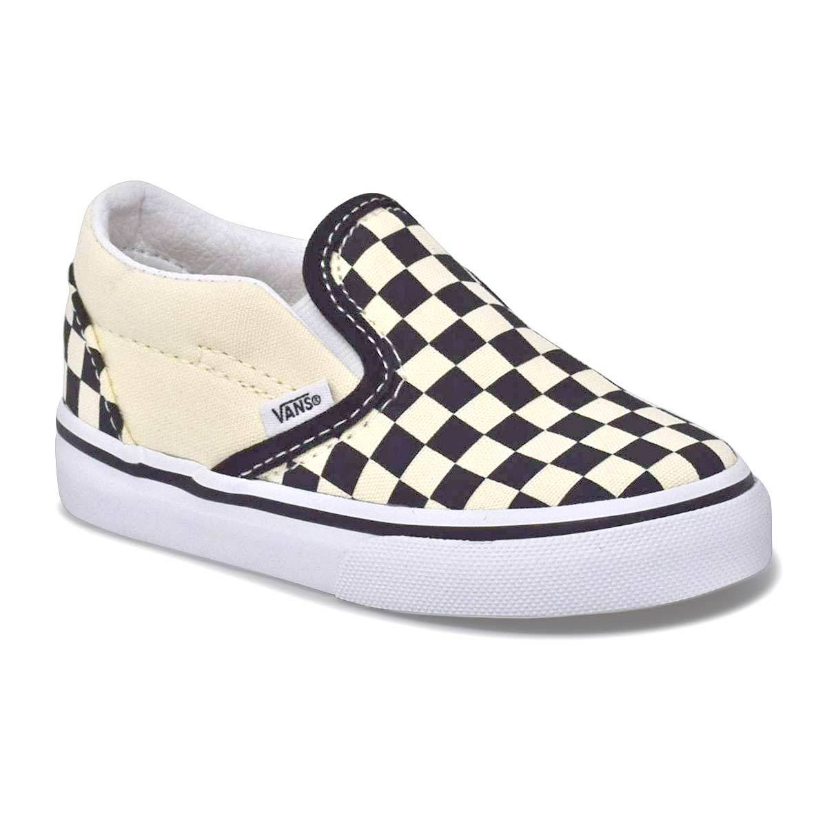 Toddler Classic Slip On Black/White Checkerboard