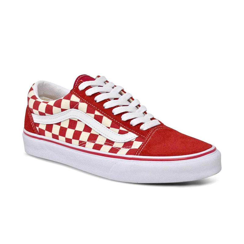 Old Skool (Primary Check) Red/White
