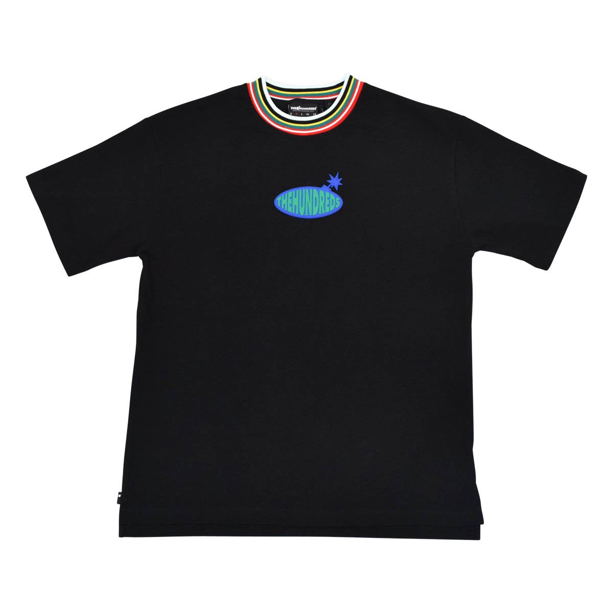 Rubber Patch Multicolor Collar Tee