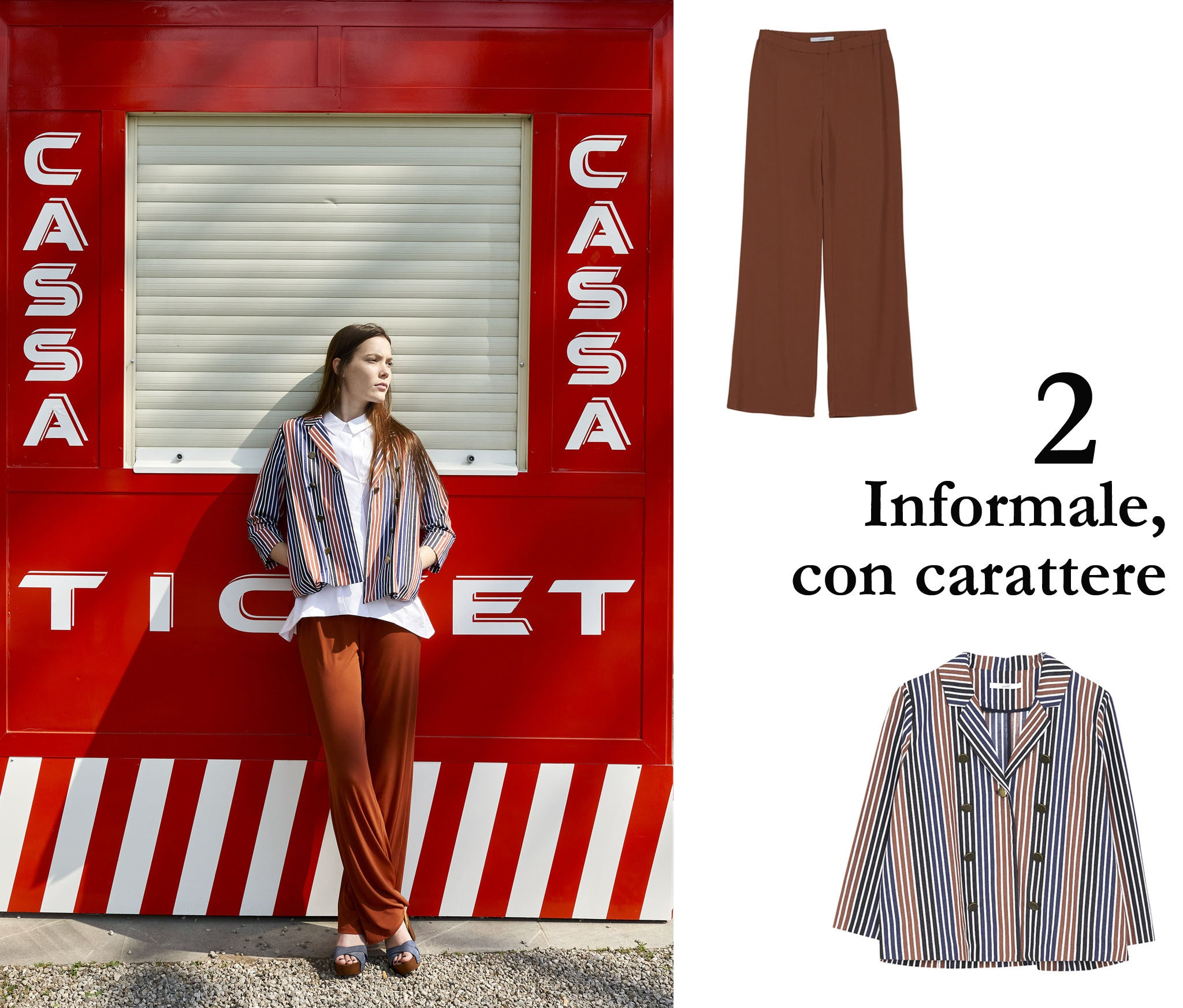 look informale con carattere - pantalone risacca
