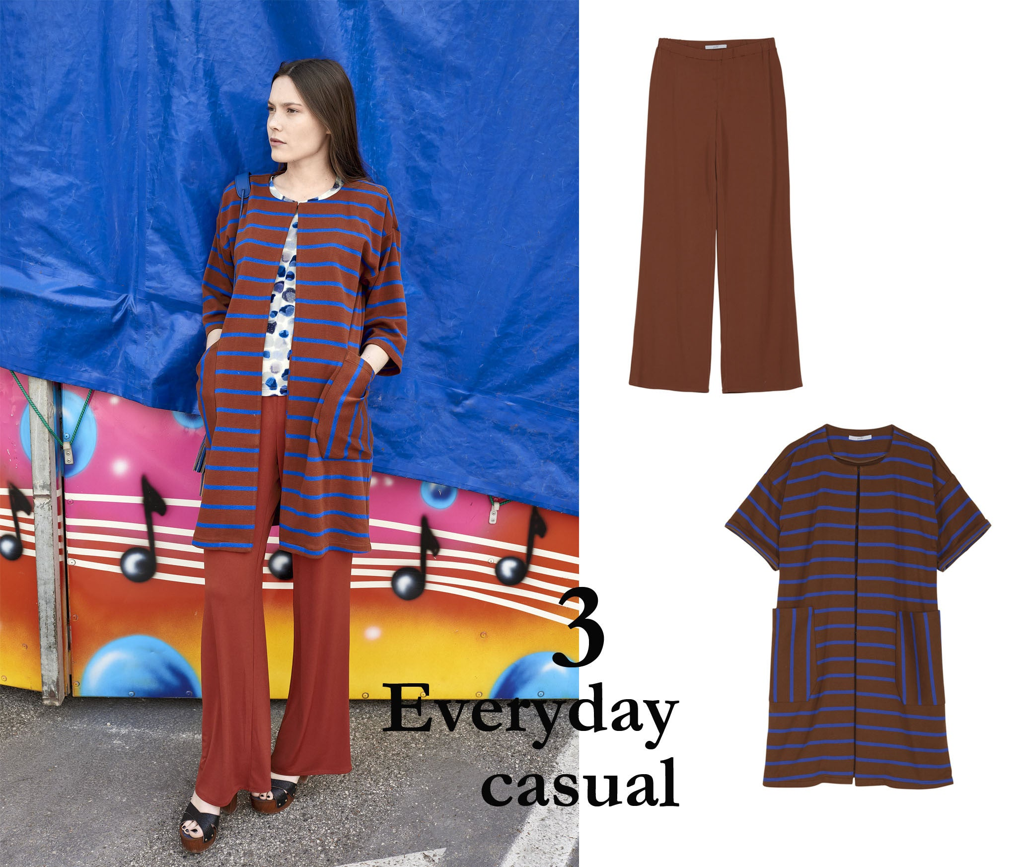 look everyday casual con pantalone risacca