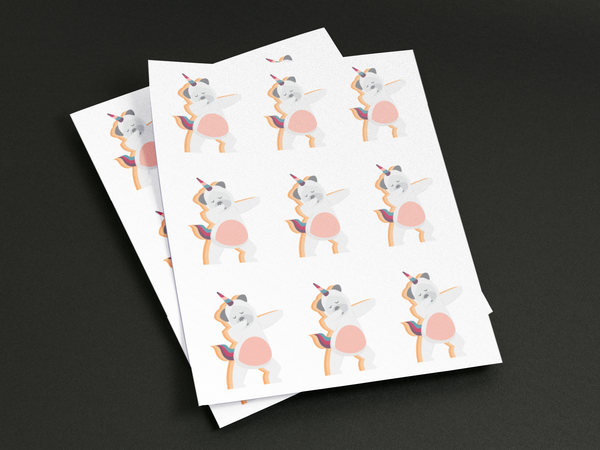 die cut sticker label sheets by comtix