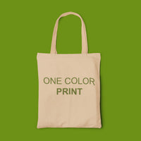 one color custom tote bag