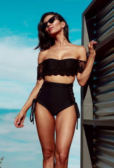 Celeste - Black High Waisted