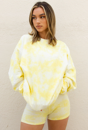 Sweatshirt Tie Dye - Yellow