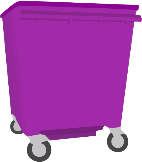 Scheduled 660 litre Wheelie Bin - Monthly Subscription