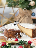 Christmas Special Set : Caramelised Apple Cheesecake with Kuro's Mocktail /  Cockatail
