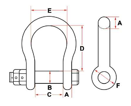 Towing Shackle (Wide Jaw)