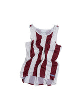 Load image into Gallery viewer, Ultralight Performance Singlet - Wine Red and White