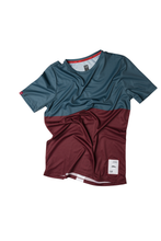 Load image into Gallery viewer, Ultralight Performance Running Tee - Green/Burgundy
