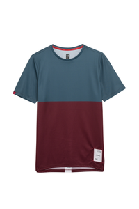 Ultralight Performance Running Tee - Green/Burgundy