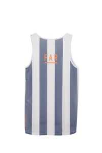 Ultralight Performance Singlet - Grey Blue and White