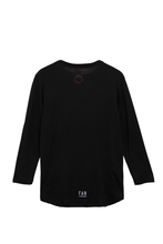 Load image into Gallery viewer, Classic 3/4 Merino Running Tee - Black