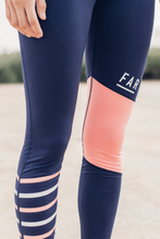 Load image into Gallery viewer, Running Tights - Blue & Rosette