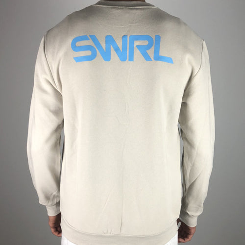 SWRL LOGO CREW SWEATER CREAM