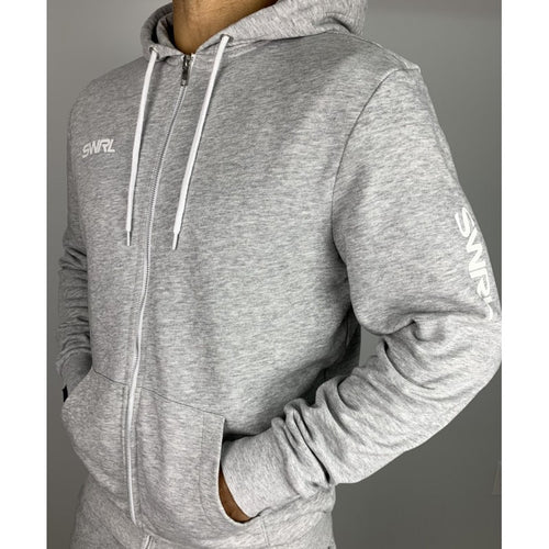 SWRL HEATHER GREY ZIP HOODIE