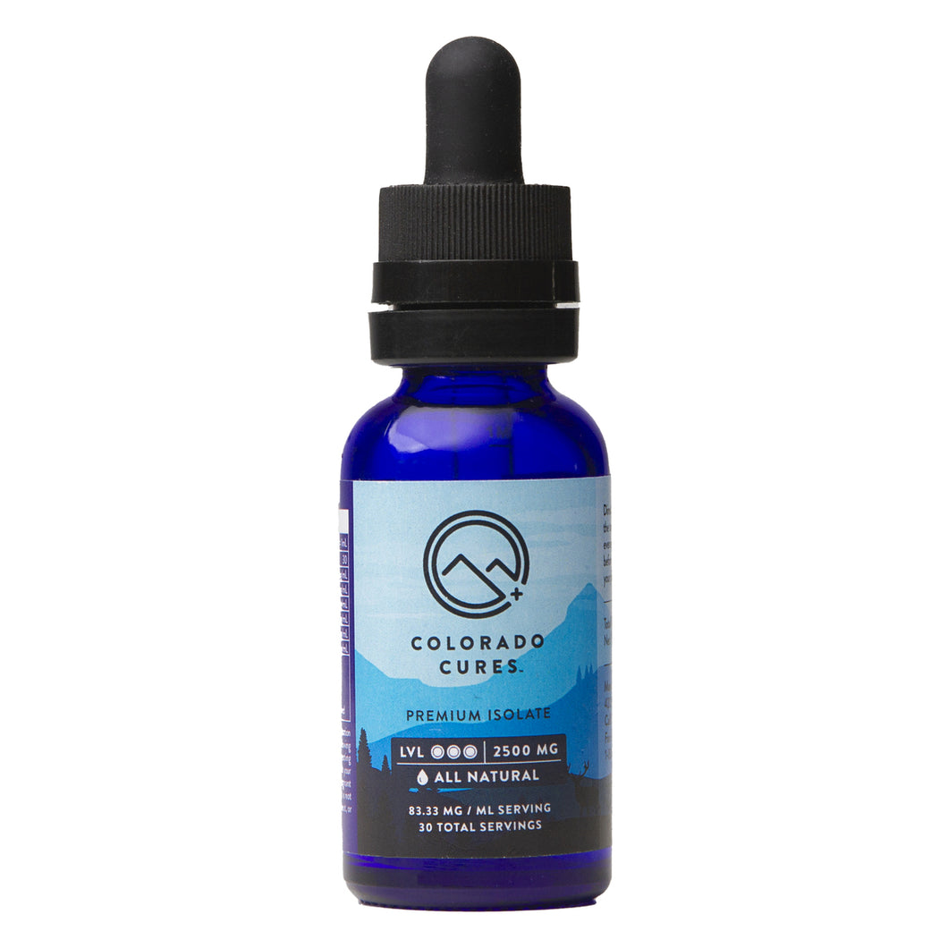 Colorado Cures Isolate Tincture 2500mg 30mL